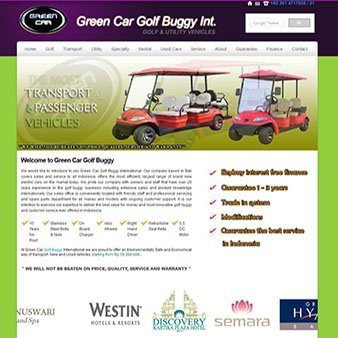 green-golf-buggy